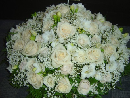 Funeral Posy White